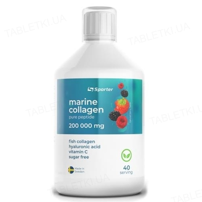 Коллаген Sporter Collagen 200000 (fish) (sugar free), 500 мл