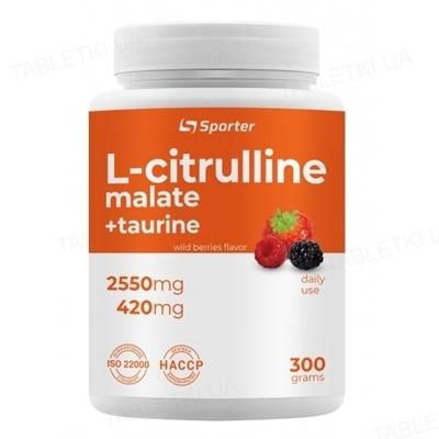 L-цитруллин Sporter L-Citrulline malate, 300 г