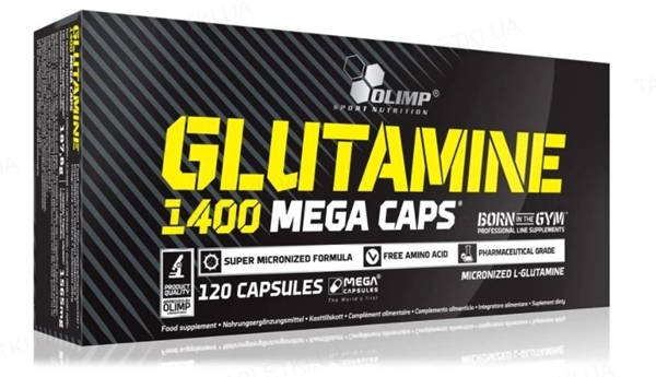 Аминокислота Olimp L-Glutamine Mega Caps, 120 капсул