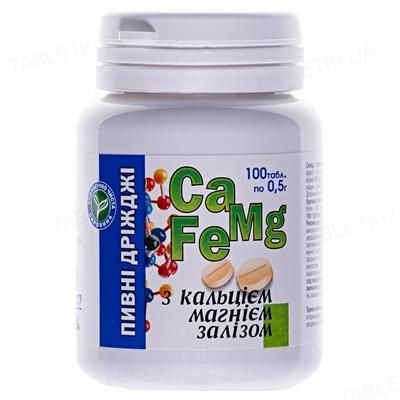 Дрожжи пивные Евро плюс с кальцием, магнием и железом таблетки №100 в бан.