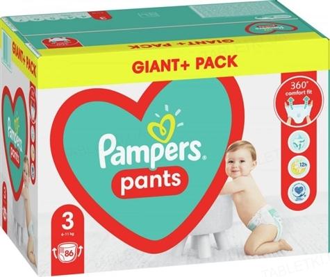 Подгузники-трусики детские Pampers Pants размер 3, 6-11 кг, 86 штук