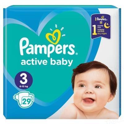 Підгузки дитячі Pampers Active Baby розмір 3, 6-10 кг, 29 штук
