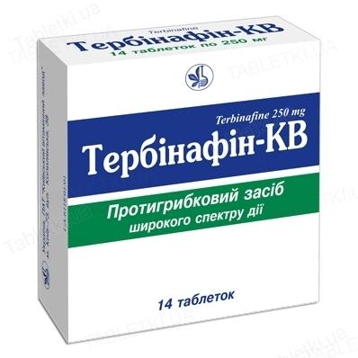 Тербінафін-КВ таблетки по 250 мг №14 (7х2)