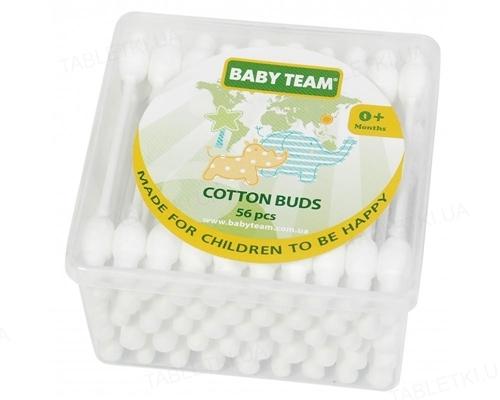 Ватные палочки Baby Team с ограничителем, 56 шт