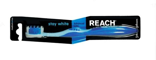Зубная щетка Reach Stay White, жесткая, 1штука