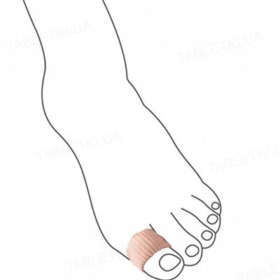 Муфта антимозольная Uriel 365-XL для деформированных пальцев стопы, для большого пальца