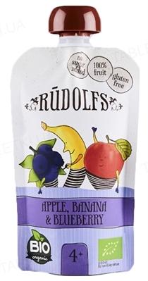Фруктовое Пюре Rudolfs Смузи яблоко-банан-черника органическое, 110 г