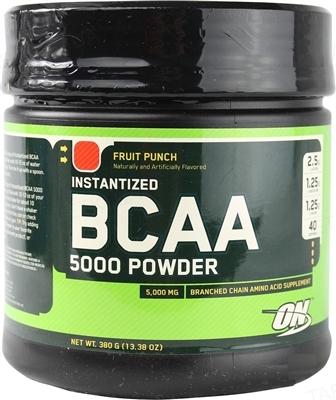 Аминокислота Optimum Nutrition BCAA 5000 Powder, фруктовый пунш, 380 г