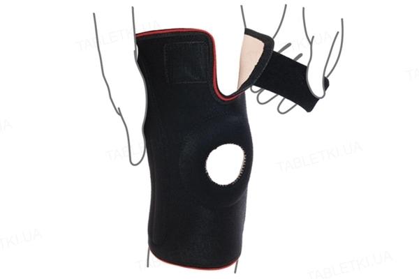 Бандаж на коленный сустав ReMed R6202 со спиральными ребрами жесткости, размер L