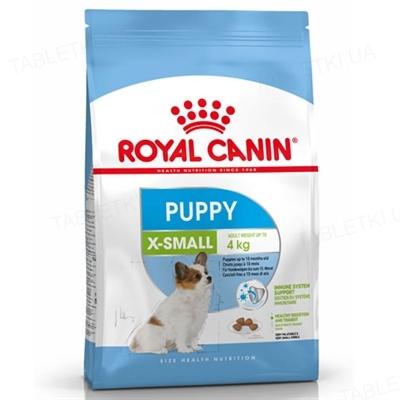 Корм сухой для собак Royal Canin X-Small Puppy мелких пород весом до 4 кг, до 10 месяцев, 500 г