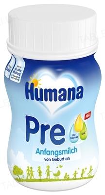 Жидкая молочная смесь Humana PRE с LC PUFA, пребиотиками и нуклеотидами для детей с 0 до 3 месяцев, 90 мл