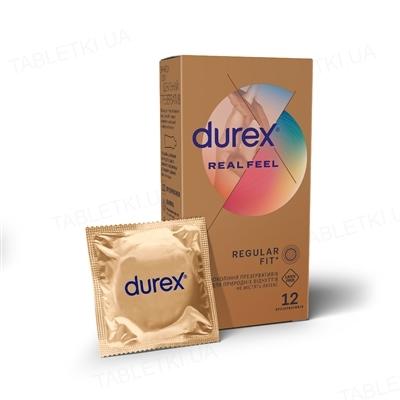 Презервативы из синтетического латекса Durex Real Feel натуральные ощущения, 12 штук