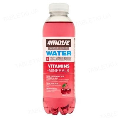 Витаминизированная вода с витаминами и минералами 4Move вишня, 556 мл