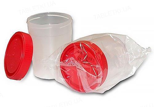Контейнер для забора биологических жидкостей Литопласт стерильный, 60 мл