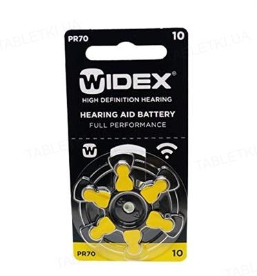 Батарейка Widex 10 AUX для слуховых аппаратов