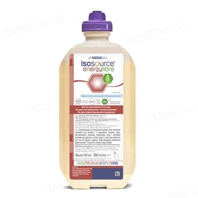 Энтеральное питание Nestle Isosource Energy Fibre Ntr Dual, жидкая сбалансированная смесь с пищевыми волокнами, 1000 мл