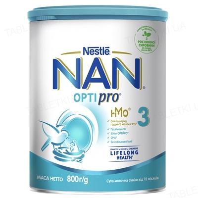 Молочко NAN 3 Optipro для детей с 12 месяцев, 800 г
