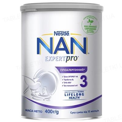 Сухая молочная смесь NAN Гипоаллергенный 3 Optipro для детей с 12 месяцев, 400 г