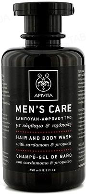 Средство для волос и тела Apivita Mens Care кардамон-прополис, 250 мл