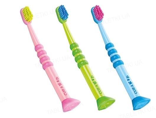Зубная щетка Curaprox CuraKid с прорезиненной ручкой, от 0 до 5 лет, 1 штука