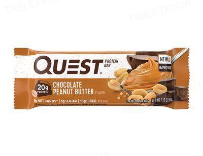 Батончик протеиновый Quest Bar 60 г 1/12 Chocolate peanut butter