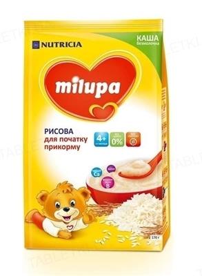 Безмолочная каша Milupa рисовая для детей с 4 месяцев, 170 г