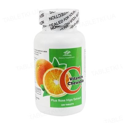 Витамин С Nu-Health с шиповником таблетки жевательные №100