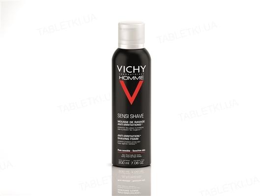 Пена для бритья Vichy Homme для чувствительной кожи, 200 мл