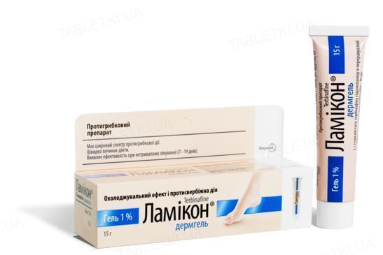Ламикон дермгель гель 1 % по 15 г в тубах