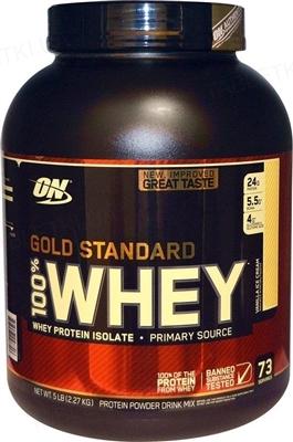 Протеин Optimum Nutrition 100% Whey Gold Standard, ванильное мороженое, 2,27 кг