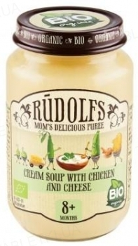 Пюре Rudolfs Крем-суп с курицей и сыром органичное, 190 г