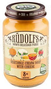 Пюре Rudolfs Овощной крем-суп с сыром органическое, 190 г