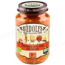 Пюре Rudolfs Лосось с макаронами и овощами органическое, 190 г