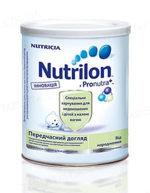 Суха молочна суміш Nutrilon Передчасний догляд для харчування недоношених і дітей з малою вагою від народження, 400 г