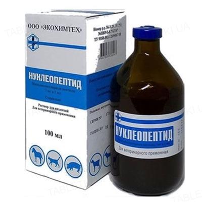 Нуклеопептид (ДЛЯ ТВАРИН) розчин для ін'єкцій, 100 мл