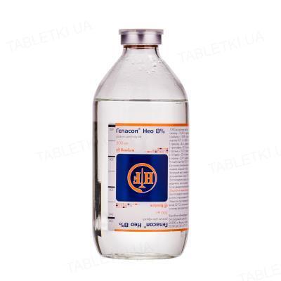 Гепасол нео 8% раствор д/инф. по 500 мл в бутыл.