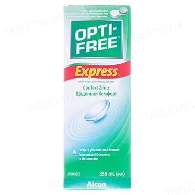 Раствор Opti-Free Express для контактных линз по 355 мл во флак. пласт.+контейнер