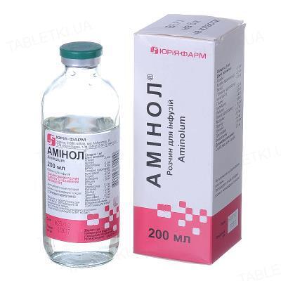 Аминол раствор д/инф. по 200 мл в бутыл.