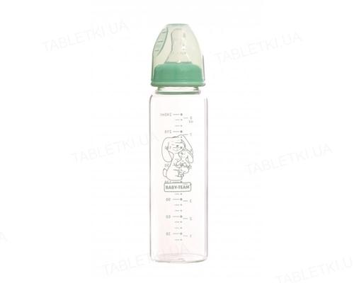 Бутылочка для кормления Baby Team 1211 стеклянная, 250 мл