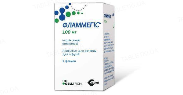 Фламмегіс ліофілізат для р-ну д/інф. по 100 мг №1 у флак.