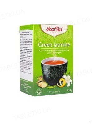 """Чай Yogi Tea """"Зеленый жасмин"""", 17 пакетиков"""
