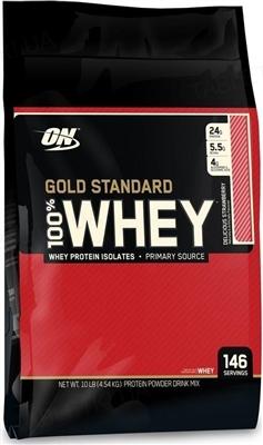 Протеин Optimum Nutrition 100% Whey Gold Standard, вкусная клубника, 4,54 кг