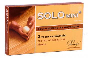 Набор тестов Solo Mini №3 для определения овуляции, 3 штуки