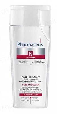 Жидкость мицеллярная Pharmaceris N Puri-Micellar для очищения и снятия макияжа с лица и глаз, 200 мл