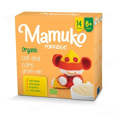 Крупа Mamuko Овсяно-кукурузная, органическая, 240 г