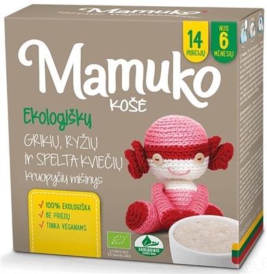 Смесь круп Mamuko Гречнево-рисово-пшеничная, органическая, 240 г