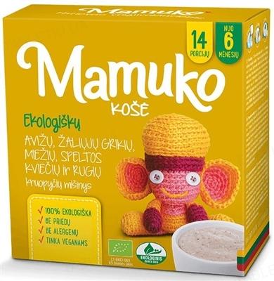 Смесь круп Mamuko Овсяно-гречнево- ячменно-пшенично-ржаная, органическая, 240 г