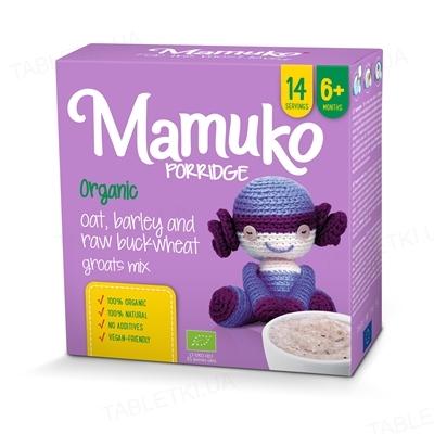Смесь круп Mamuko Овсяно-гречнево-ячменная, органическая, 240 г