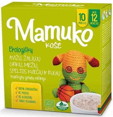 Смесь круп Mamuko Мультизерновая с овсяными хлопьями, органическая, 240 г