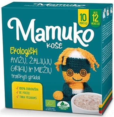 Смесь круп Mamuko Гречнево-ячменная с овсяными хлопьями, органическая, 240 г